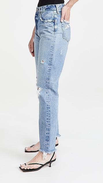 MOUSSY VINTAGE MV Odessa Wide Straight Jeans
