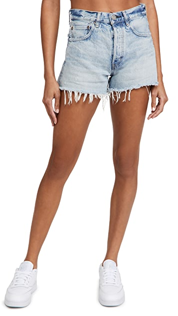 MOUSSY VINTAGE MV Mathews Denim Shorts