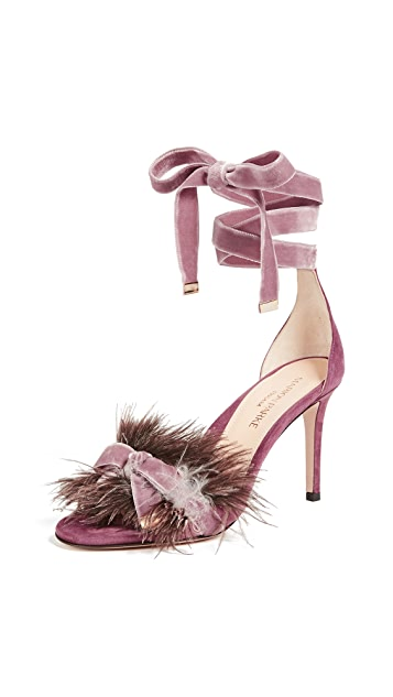 Marion Parke Lainey Feather Sandals