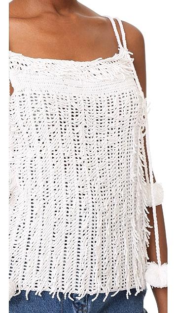 M.PATMOS Maria Crochet Cami