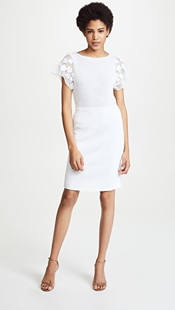 M.PATMOS Cora Crochet Dress - White