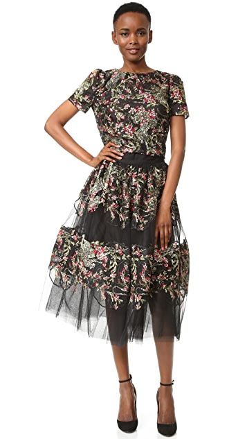 Marchesa Embroidered Skirt