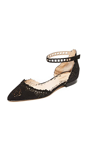 Marchesa Evie Flats with Ankle Strap