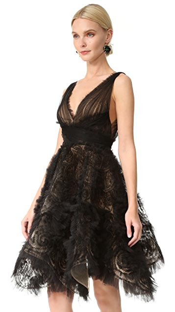 Marchesa Tulle Cocktail Dress