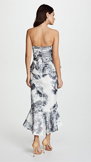 Marchesa Taffeta Cocktail Dress