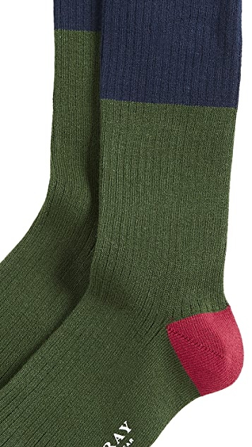 Mr. Gray Tipped Stripe Socks