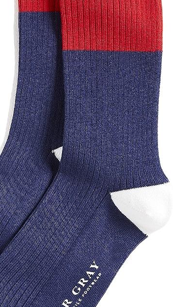 Mr. Gray Tipped Stripe Socks