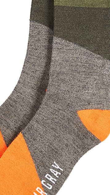 Mr. Gray Pop Block Socks