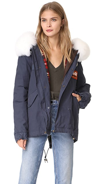 Mr & Mrs Italy Canvas & Fox Fur Parka | SHOPBOP