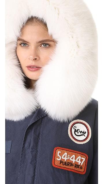 Mr & Mrs Italy Canvas & Fox Fur Parka
