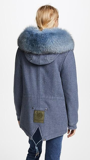 Mr & Mrs Italy Wool Mini Parka