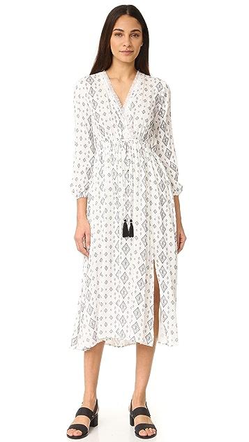 Moon River Printed Maxi Dress