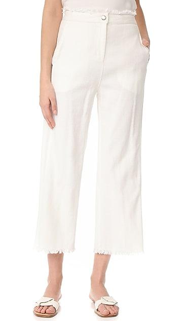 Moon River Frayed Bottom Pants