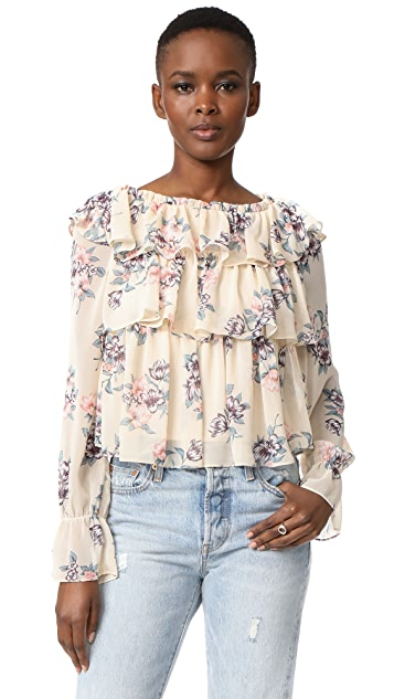 Moon River Ruffle Blouse
