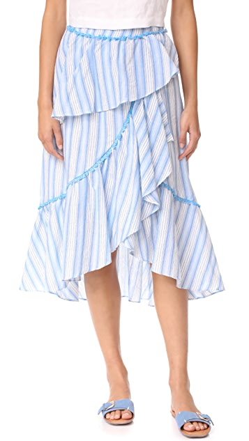 Moon River Ruffle Layered Skirt