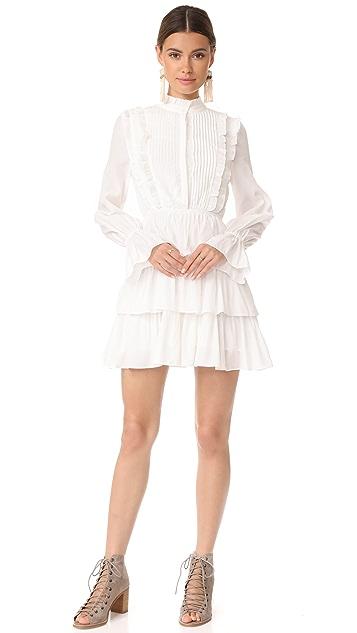 Moon River Ruffle Long Sleeve Dress