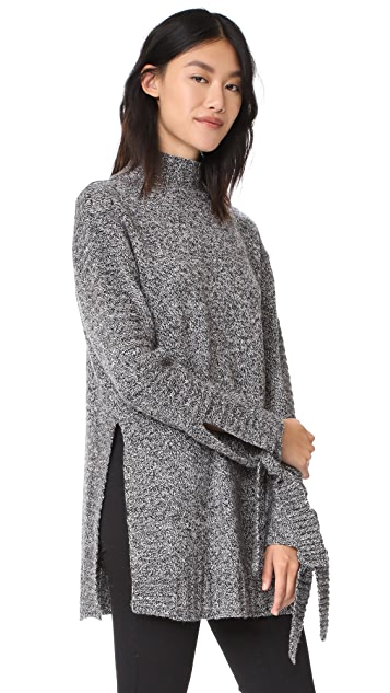 Moon River Tie Tunic Sweater