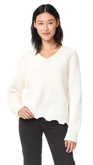 Moon River Raw Edge Sweater