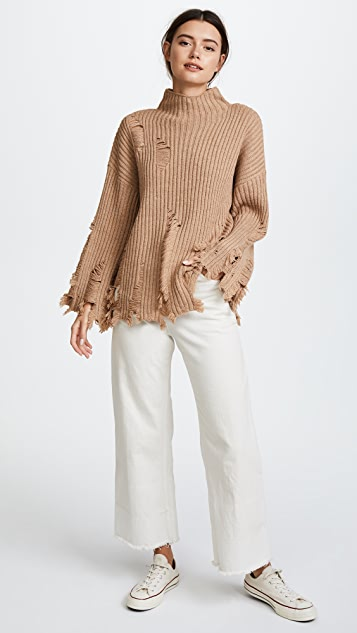 Moon River Fray Sweater