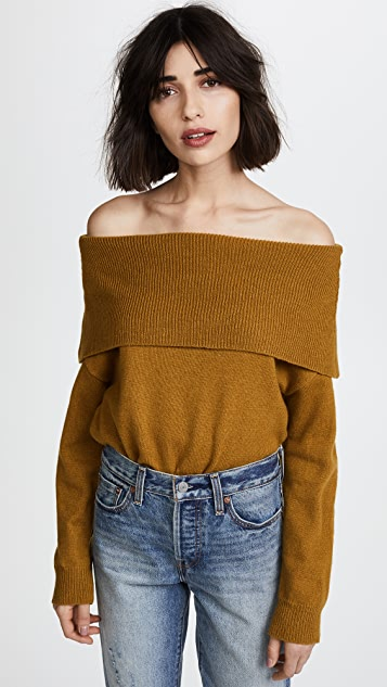 Moon River Off Shoulder Sweater