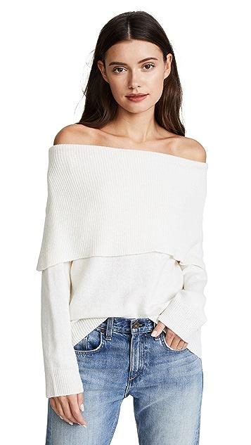 Moon River Off Shoulder Sweater