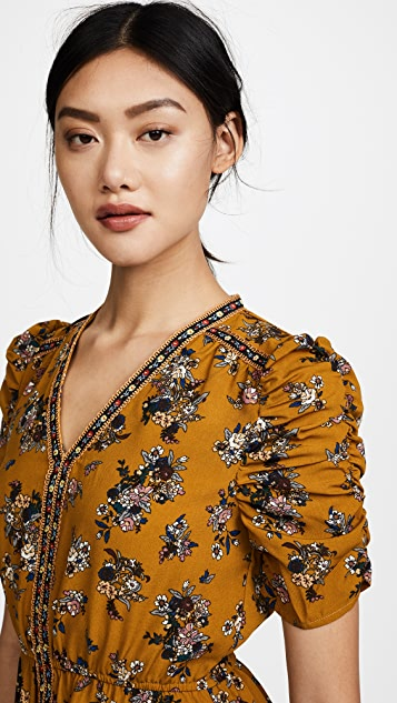 Moon River V Neck Floral Dress