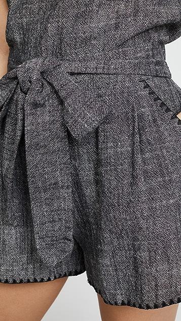 Moon River Tie Shorts