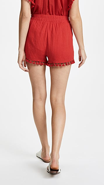 Moon River Pom Pom Shorts