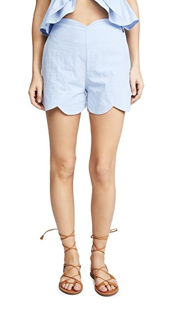 Moon River Scallop Shorts