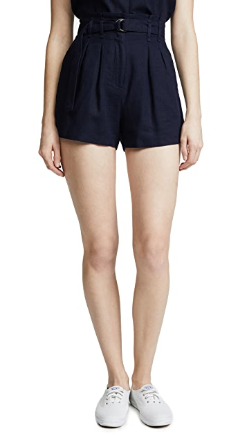 Moon River Tie Front Shorts