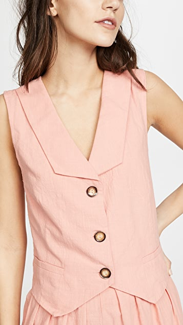 Moon River Vest Blouse