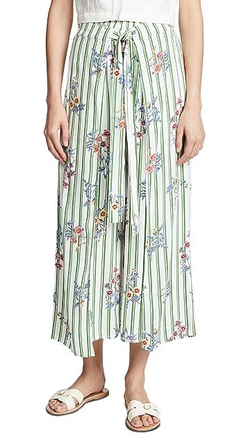 Moon River Floral Stripe Pants