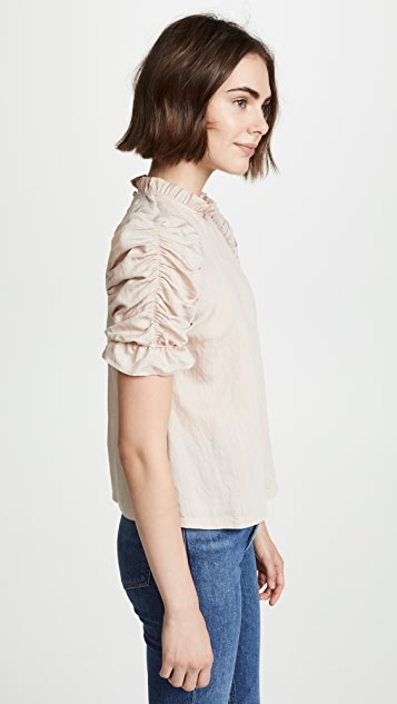 4aae3c6769d90 ... Moon River Ruched Sleeve Top ...