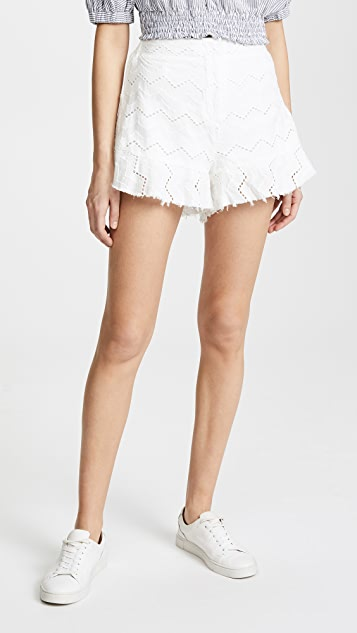 Moon River Ruffle Shorts