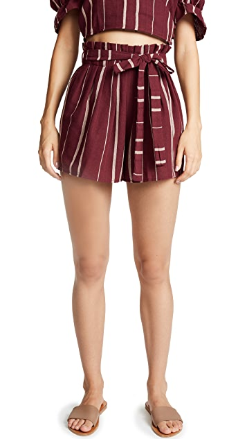 Moon River Paperbag Waist Shorts