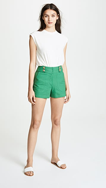 Moon River Button Front Shorts