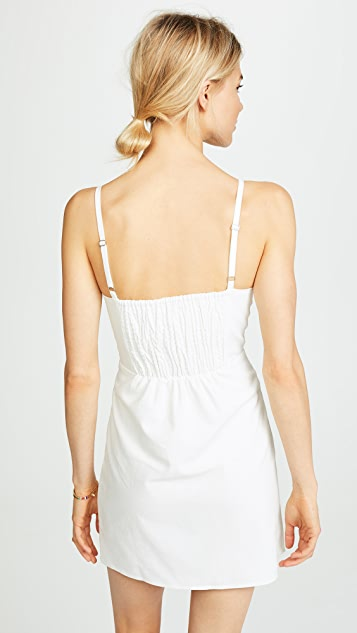 Moon River Button Front Sleeveless Dress