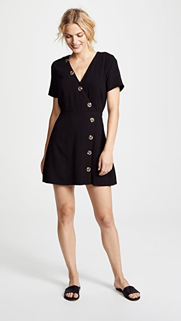 Moon River Button Front Dress