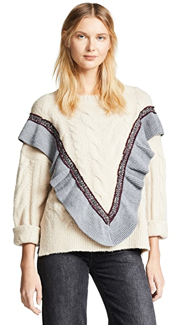 Moon River Crew Neck Sweater