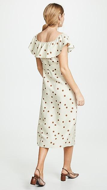 Moon River Миди-платье в горошек