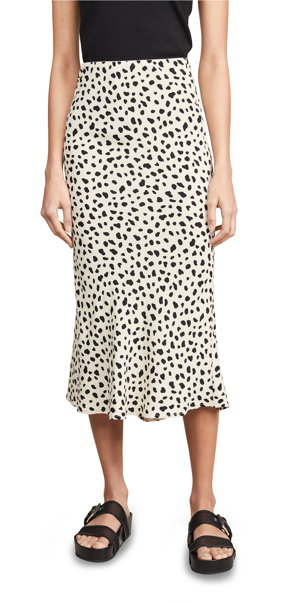 Moon River Leopard Print Skirt