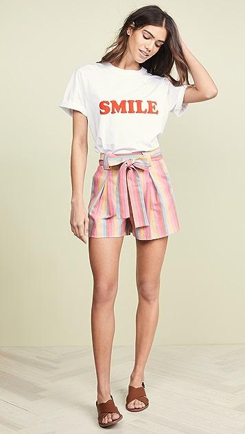 Moon River 彩虹条纹短裤