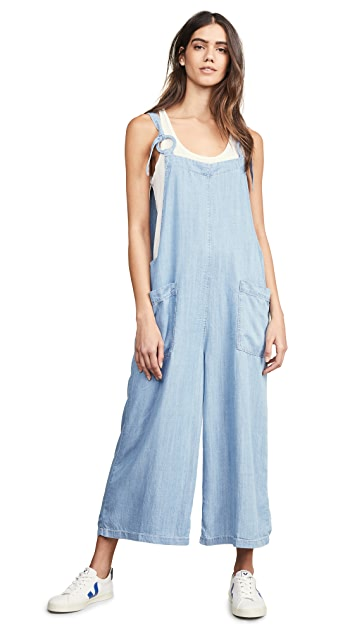 Moon River Sky Blue Jumpsuit