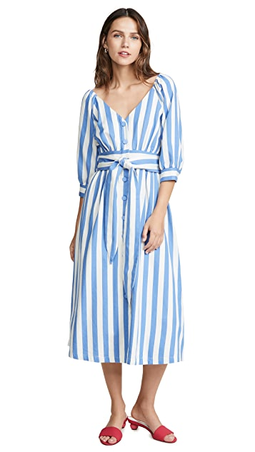 Moon River Blue Stripe Dress