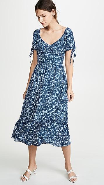 Moon River 蓝色圆点连衣裙