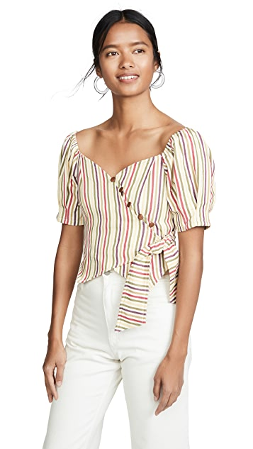 Moon River Multi Stripe Top