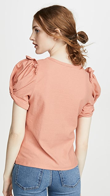 Moon River Ruched Tee