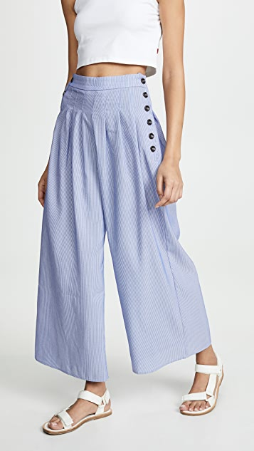 Moon River Sky Stripe Pants