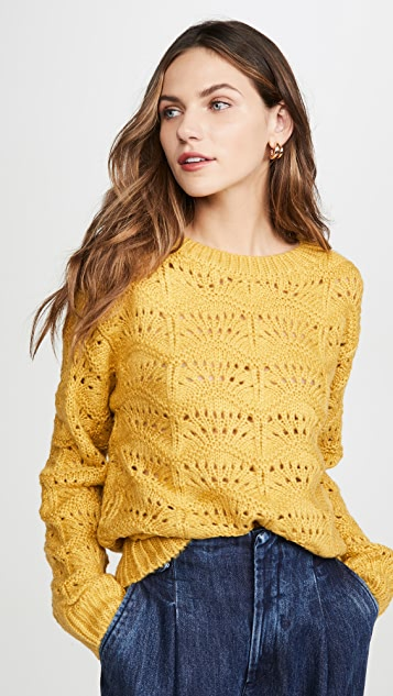 Moon River Wave Patterned Sweater