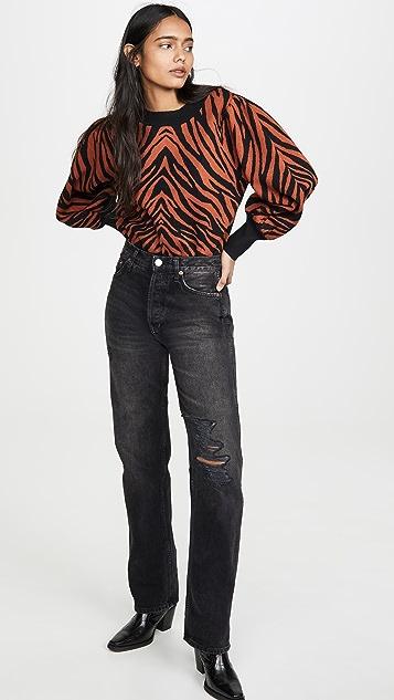 Moon River Zebra Sweater